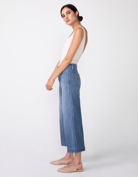 GRETA High Waist Culotte in Chevy