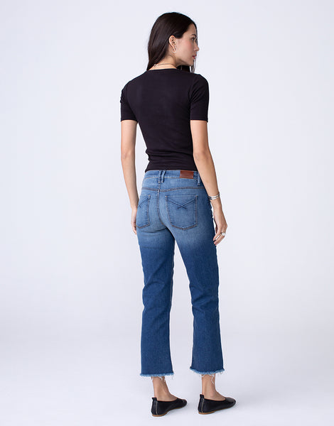 KENZIE Mid Rise Modern Mom Fit Straight in Vital