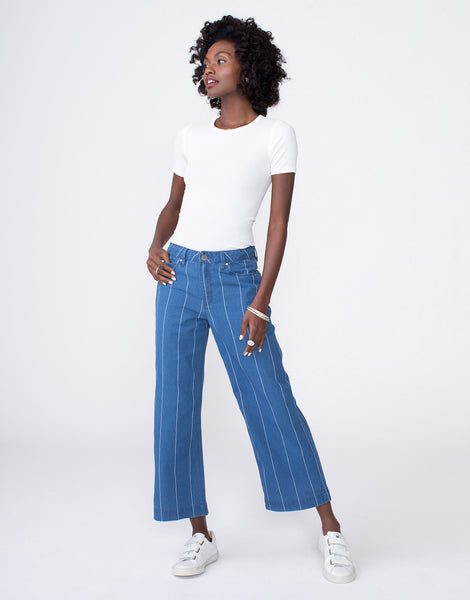 GRETA High Waist Culotte in Bandit