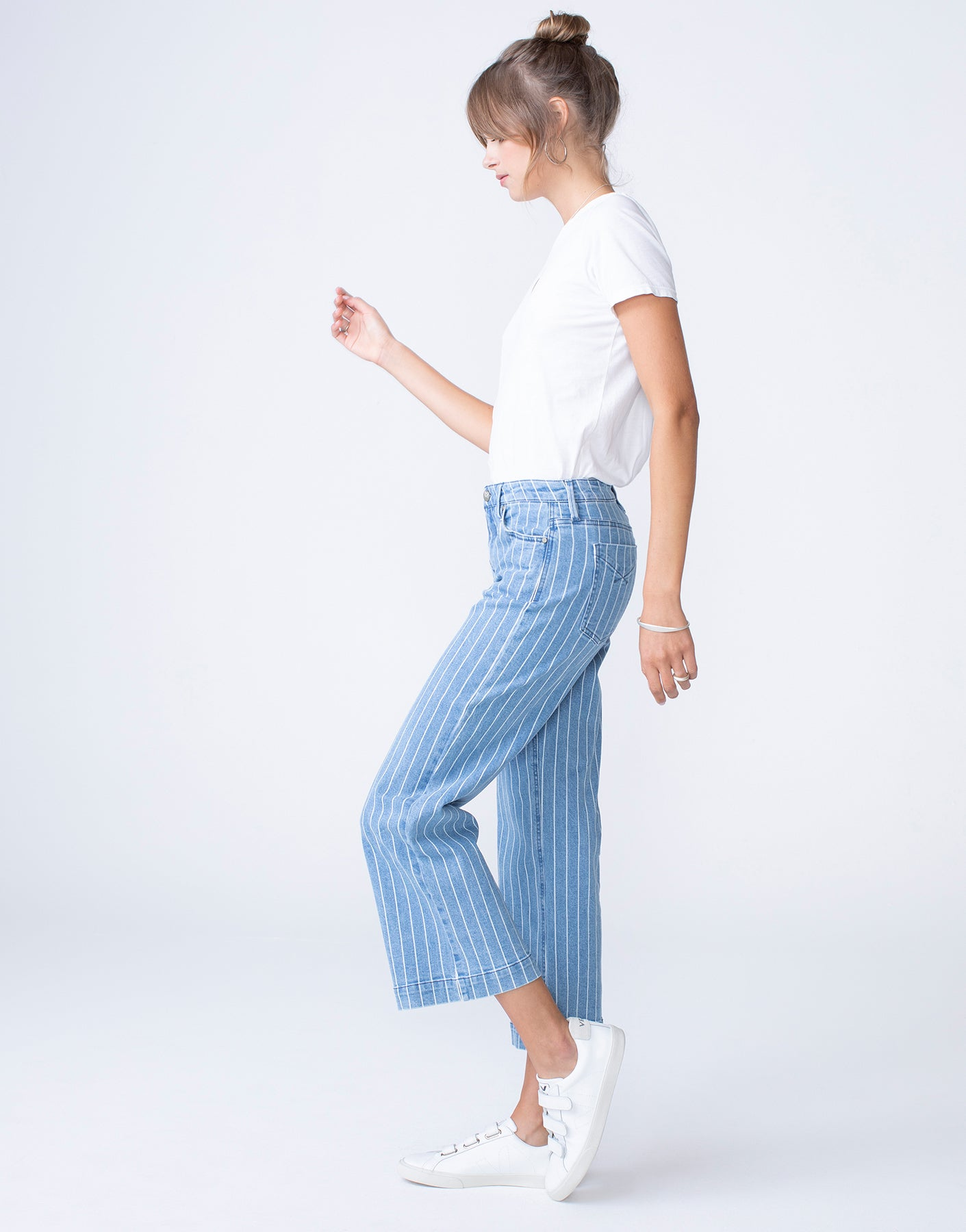 GRETA High Waist Culotte in Vintage Railway