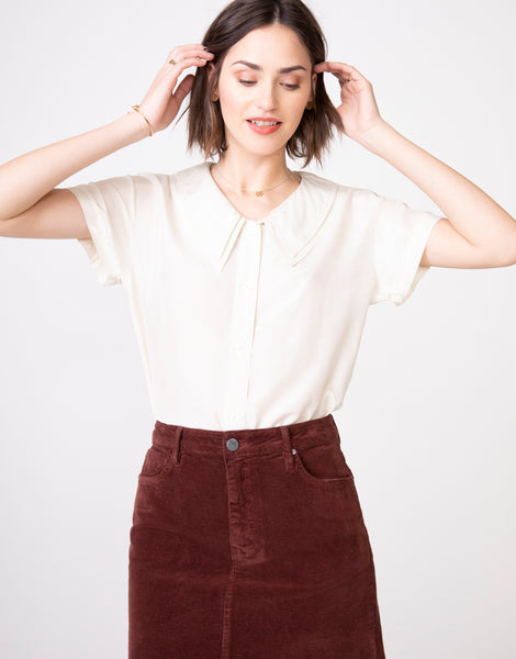 NICO High Waist Mini Skirt in Hickory Cord