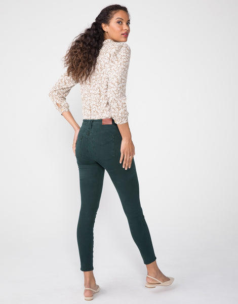 KORA Mid Rise Skinny in Evergreen