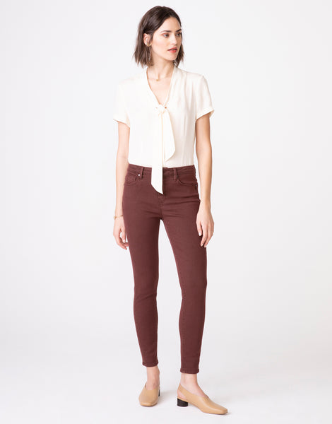 OLIVIA High Rise Skinny in Hickory