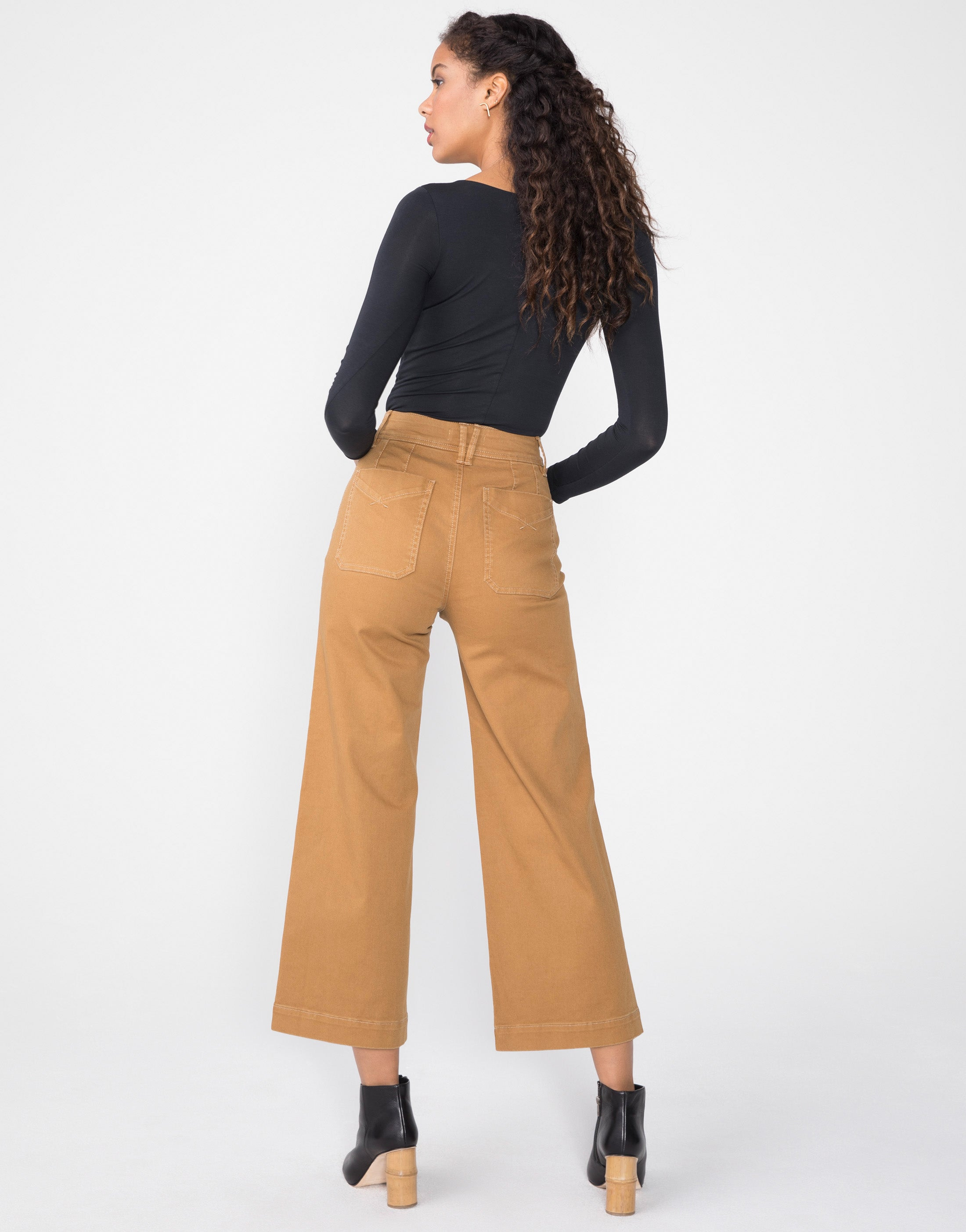 GEMMA Super High Waist Mod Sailor in Camel