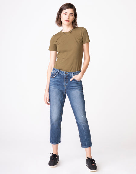 HAYDEN Cropped Girlfriend Jean in Folklore