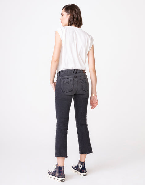 MARGAUX Cropped Demi Flare in Coal