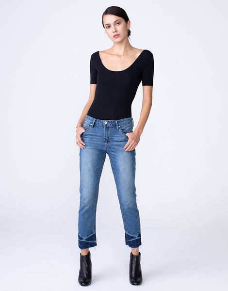 HAYDEN Cropped Girlfriend Jean in Lagoon