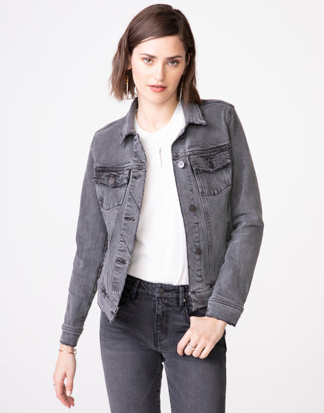 ABBIE Fitted Trucker Jacket in Luna