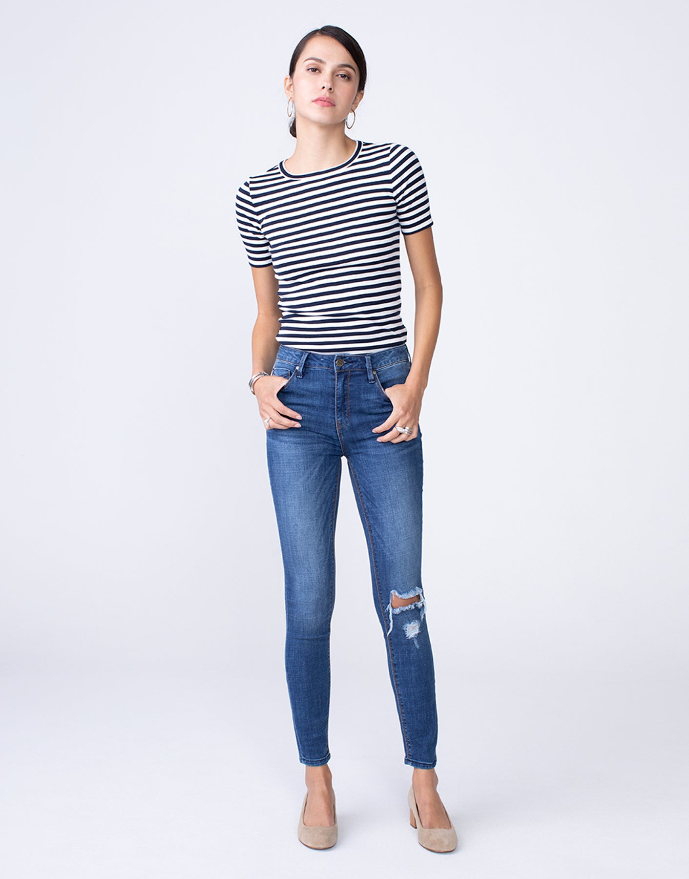OLIVIA High Rise Skinny in Shameless