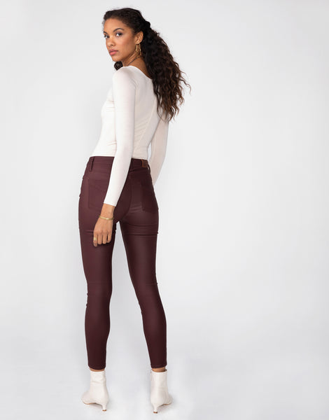 OLIVIA High Rise Skinny in Mulberry