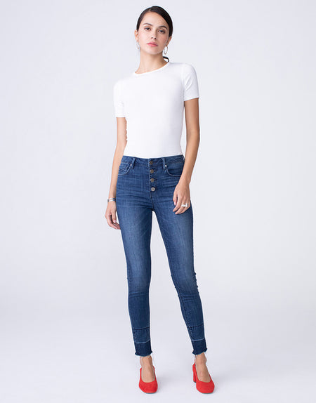 OLIVIA High Rise Skinny in Peak