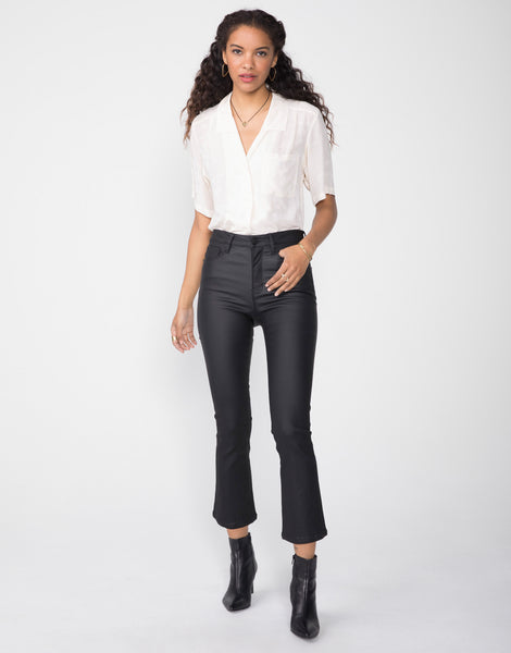 MARLOW High Rise Cropped Demi Flare in Burnished