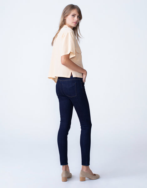 OLIVIA High Rise Skinny in Marine