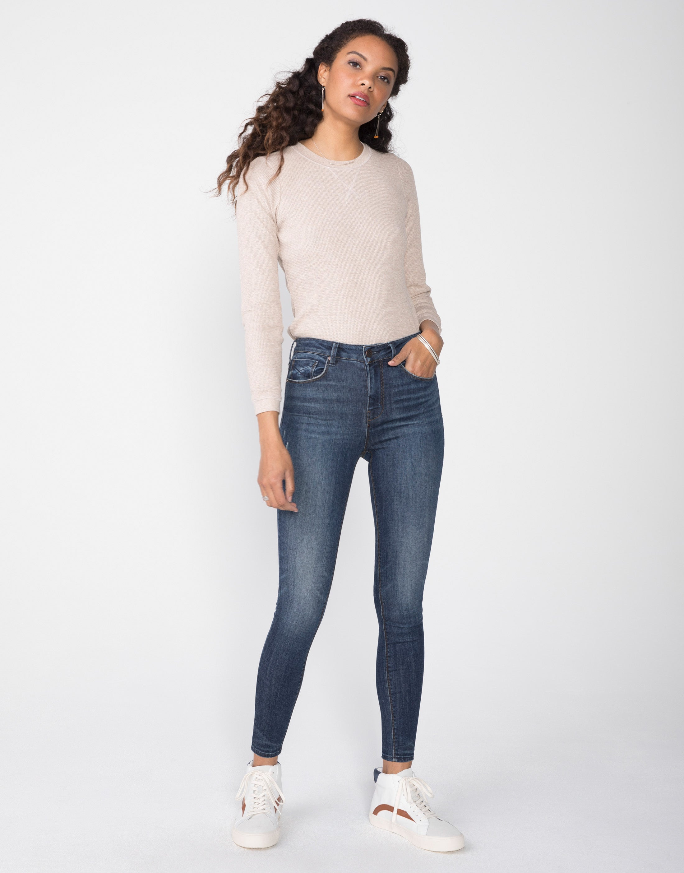 OLIVIA High Rise Skinny in Monterey