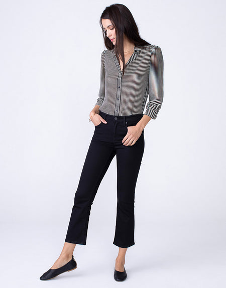 MARGAUX Cropped Demi Flare in Blackout