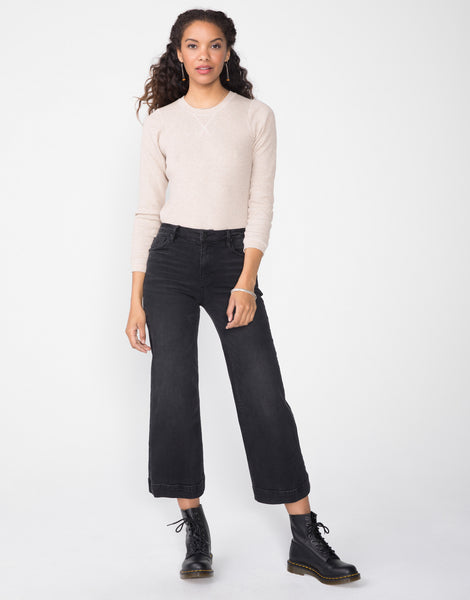 GRETA High Waist Culotte in Cinder