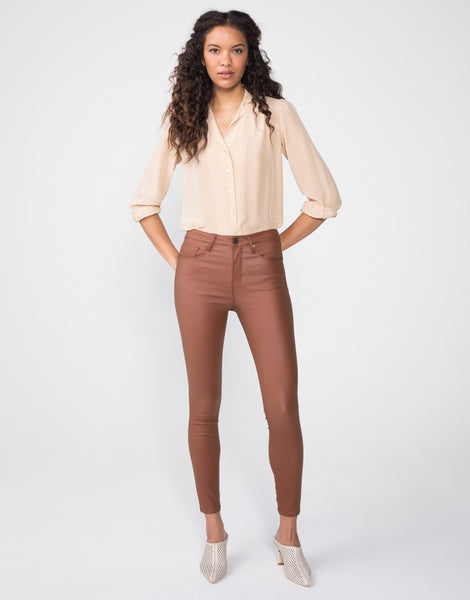 OLIVIA High Rise Skinny in Chestnut