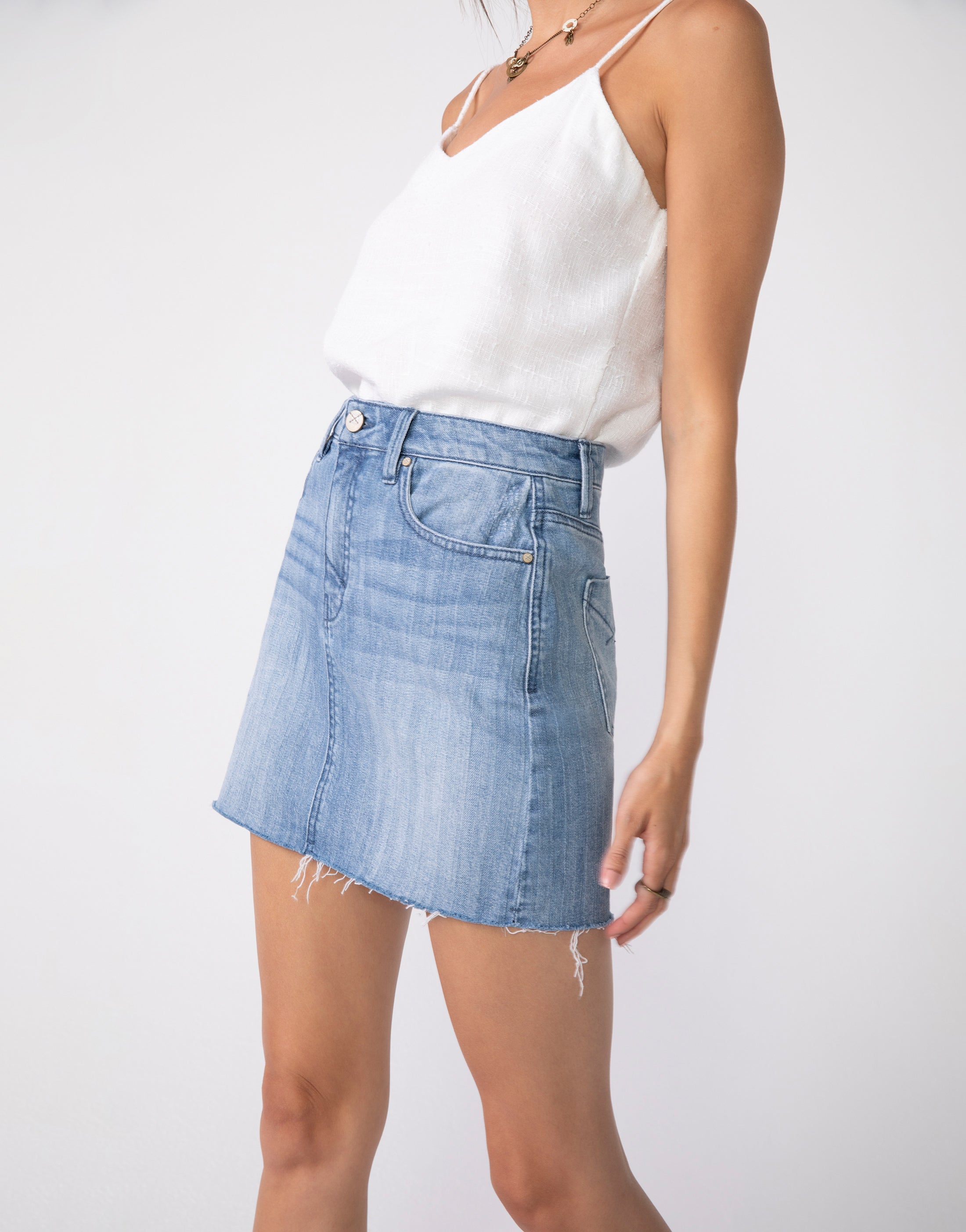 NICO High Waist Mini Skirt in Faded Chevy
