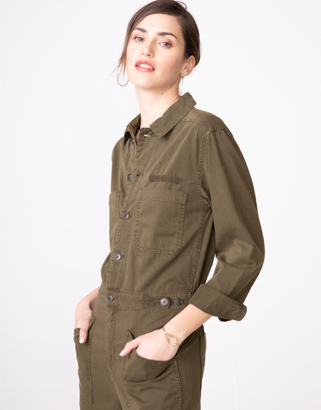 JOEY Fitted Coverall in Army
