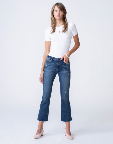 MARGAUX Cropped Demi Flare in Moxie