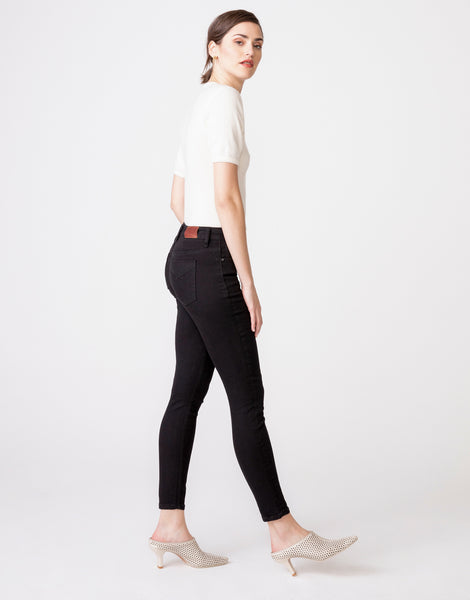 OLIVIA High Rise Skinny in Noir