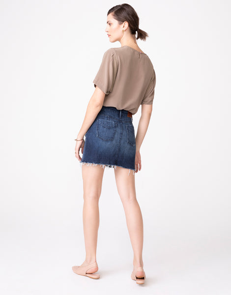 NIKA High Waist Mini Skirt in Mirth