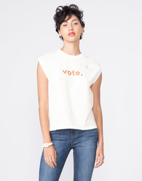 HENDRIX Muscle Tee in Vote