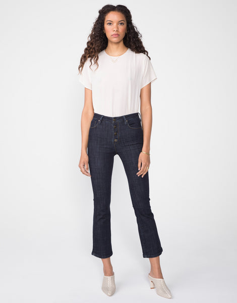 MARLOW High Waist Cropped Demi Flare in Echo