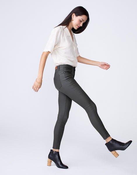 OLIVIA High Rise Skinny in Gunner