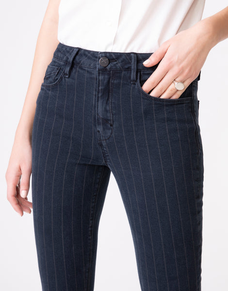 OLIVIA High Rise Skinny in Shadow Stripe