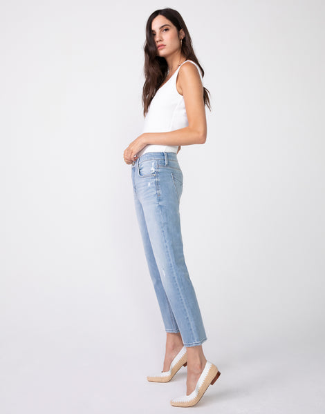 HAYDEN Cropped Girlfriend Jean in Sunday