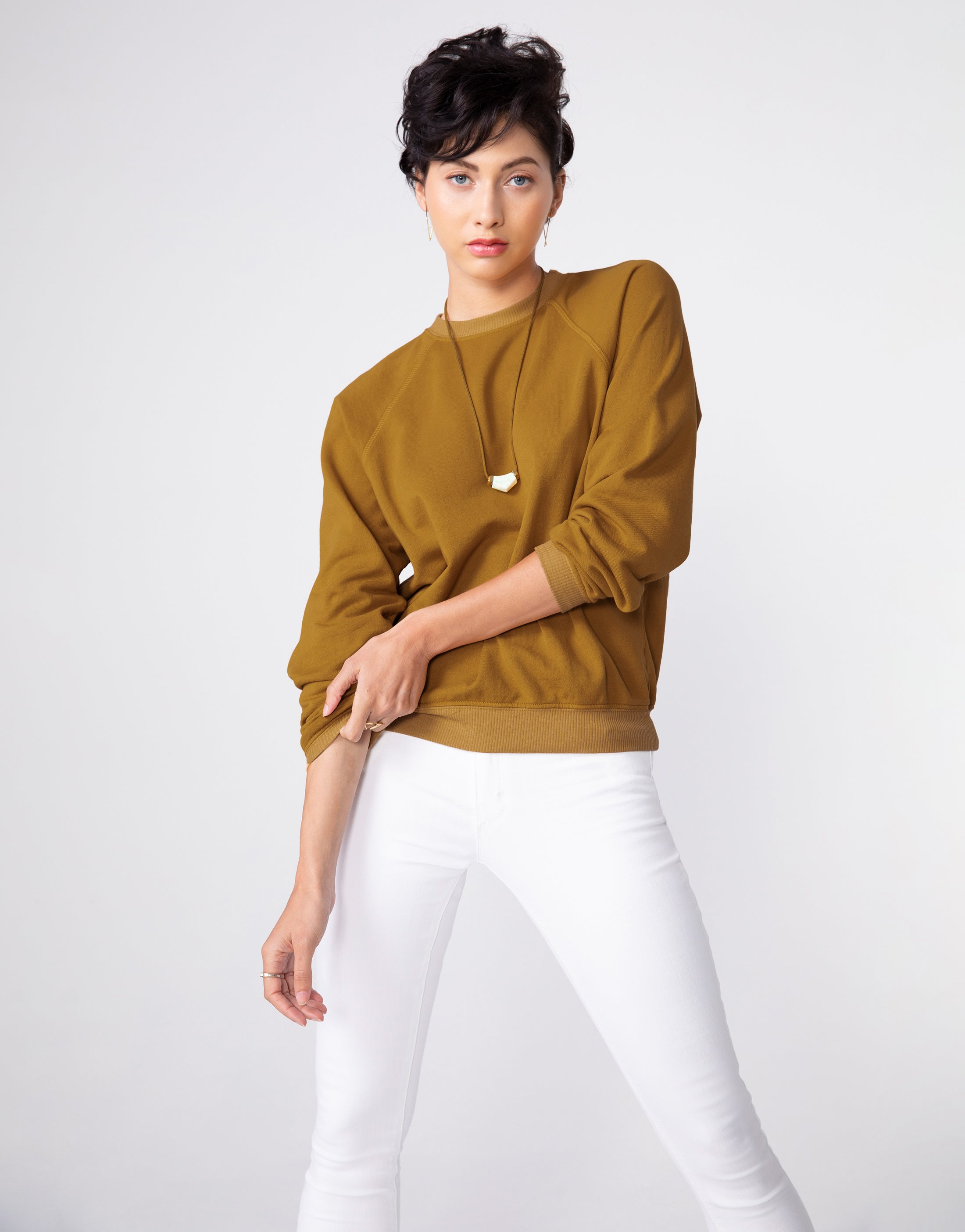 CORNELL Easy Sweatshirt in Butterscotch