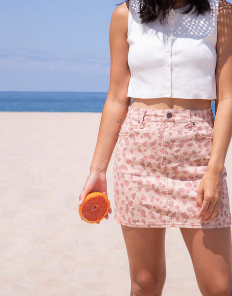 NICO 5PKT Mini Skirt in Blooms