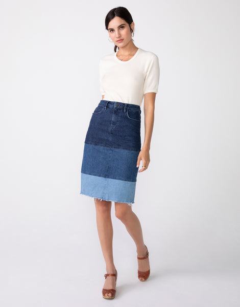 DONNA High Waist Pencil Skirt in Trilogy
