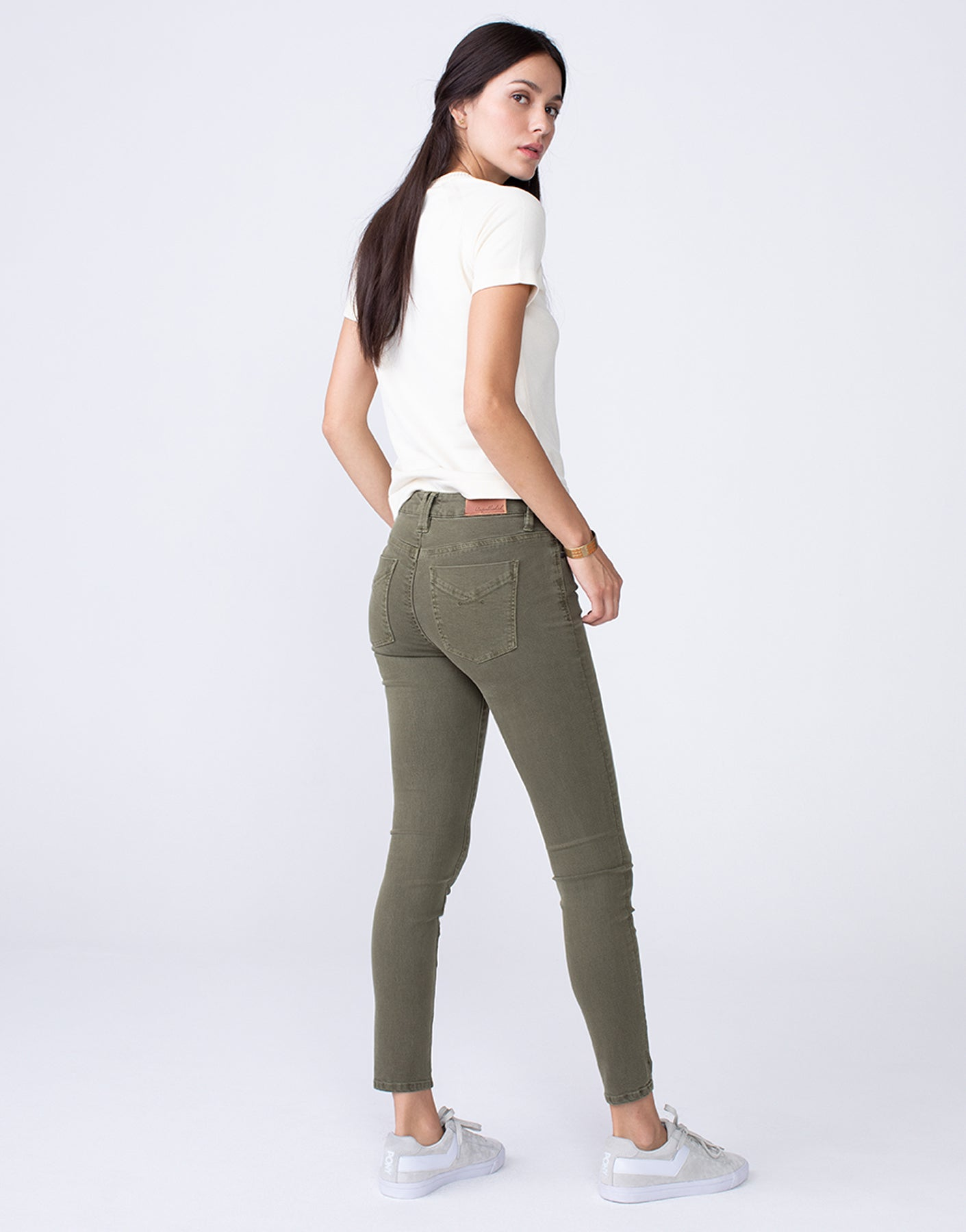 KORA Mid Rise Skinny in Willow