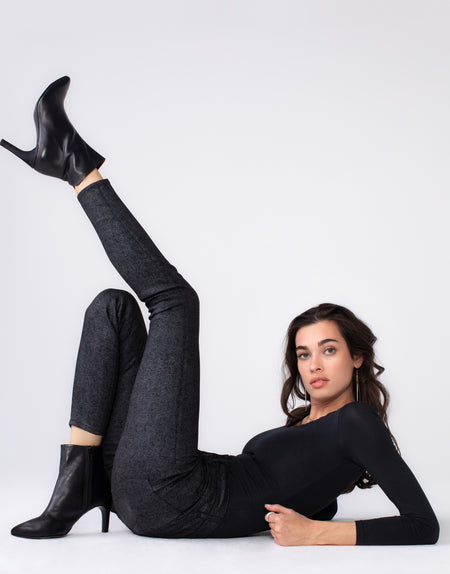 OLIVIA High Rise Skinny in Herringbone Luxe