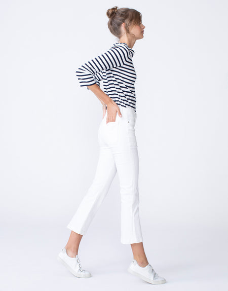 MARGIE Cropped Utility Demi Flare in Proper