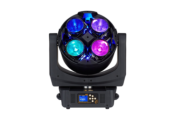 Quad front view, 4-colour LEDs