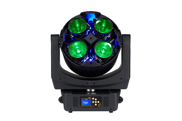 Quad front view, green LEDs