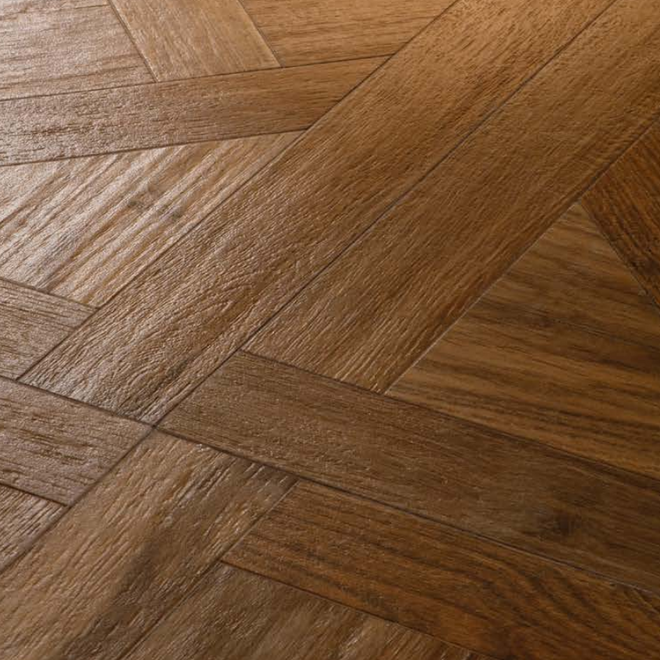 20: Eglise 750x750x10mm Parquetry Wood Effect Ceramic Tile Rectified