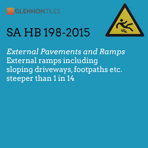 HB198-2015: External Ramps Including Sloping Driveways, Footpaths Etc. Steeper Than 1 In 14