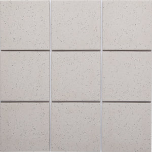 Bauhaus GT06013 100x100mm unglazed matt wall & floor tile - lightly speckled