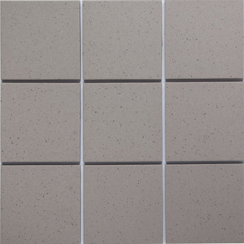 Bauhaus GT06014 100x100mm unglazed matt wall & floor tile - lightly speckled