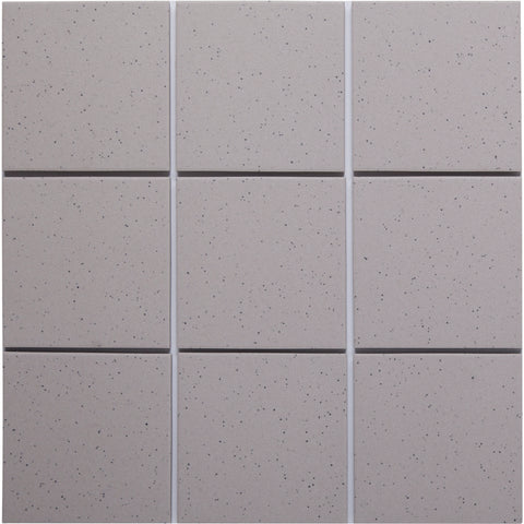 Bauhaus GT06015 100x100mm Unglazed Matt Wall & Floor Tile - Lightly Speckled