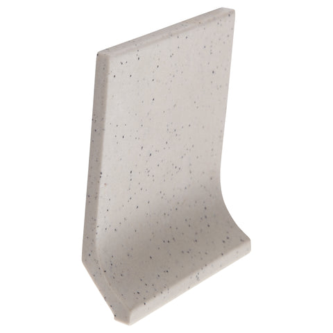 Bauhaus Cove GT06043 100x100mm unglazed matt cove skirting tile - lightly speckled