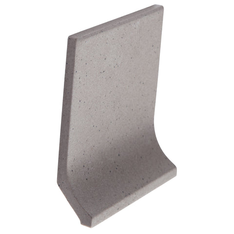 Bauhaus Cove GT06039 100x100mm unglazed matt cove skirting tile - lightly speckled