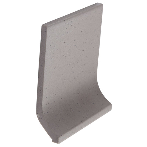 Bauhaus Cove GT06040 100x100mm unglazed matt cove skirting tile - lightly speckled