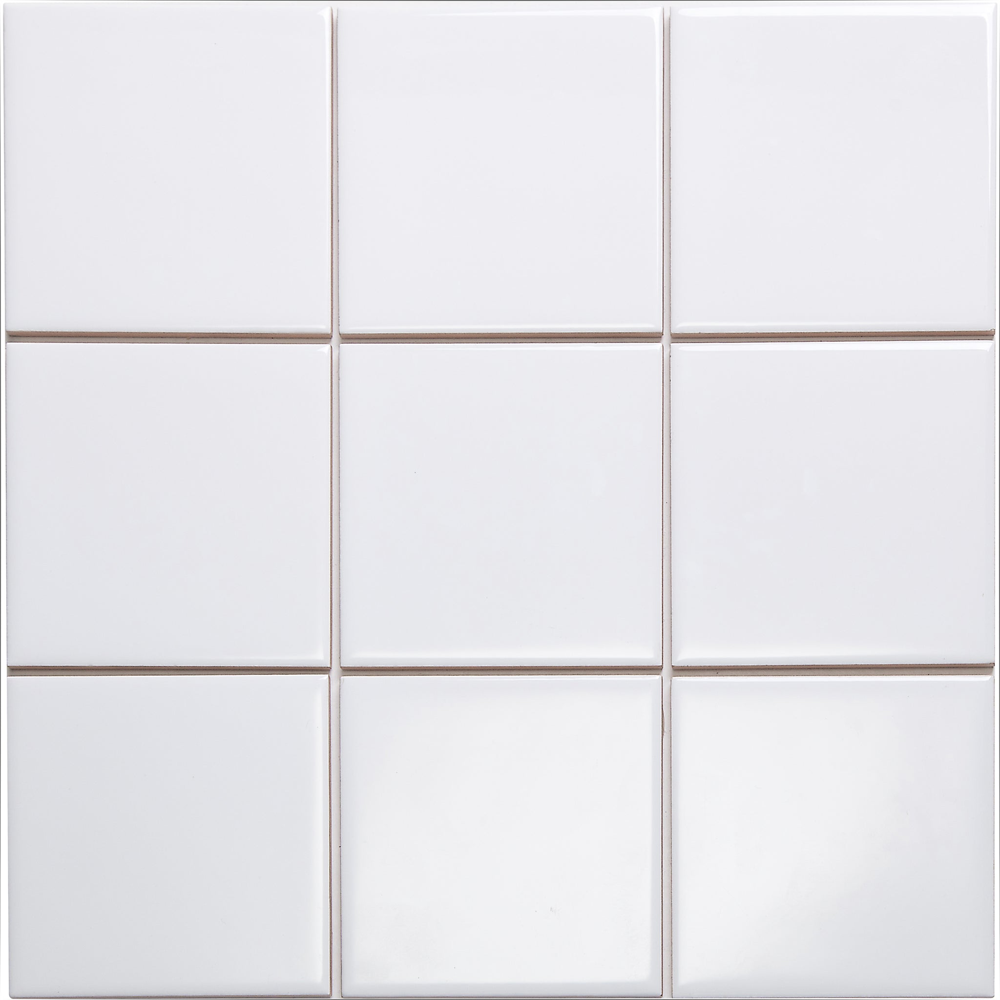 Bauhaus GT06115 100x100mm Glazed Gloss White Wall Tile