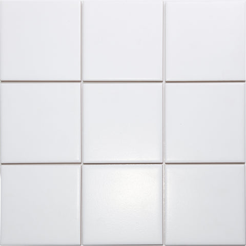 Bauhaus GT06454 100x100mm glazed matt white wall tile