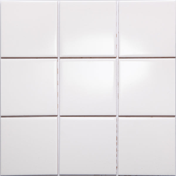 Bauhaus GT06616 100x100mm Glazed Gloss Cream Wall Tile